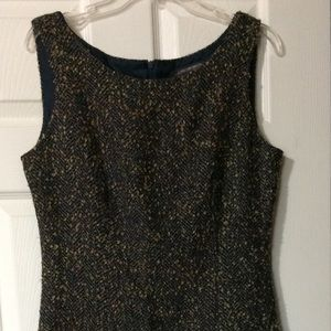 Jonathan Martin Studio navy blue tweed dress